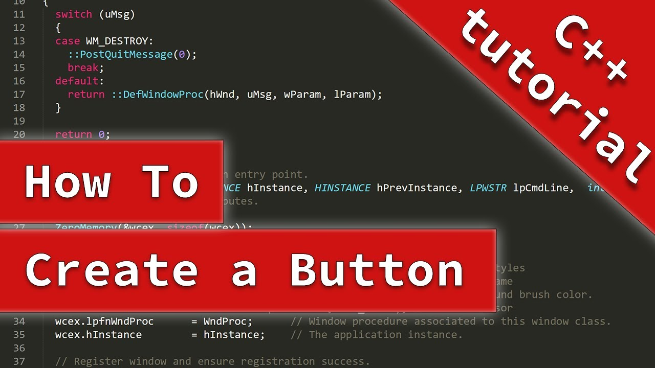 How to create a button on C++   DaniWeb