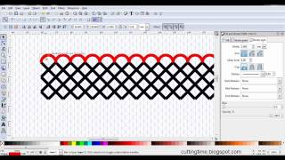 Scalloped Trellis Design