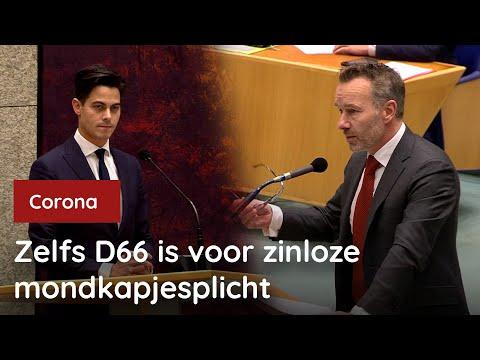 Zelfs D66 is voor zinloze mondkapjesplicht | 09-12-2020
