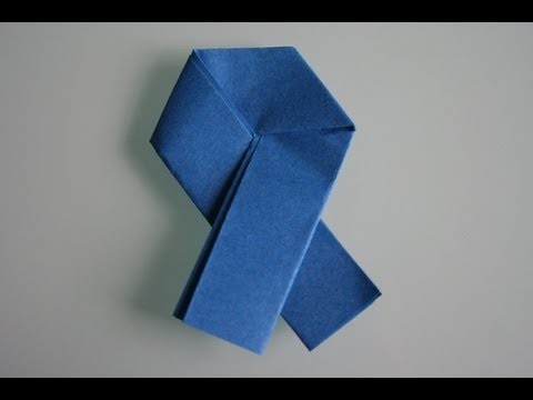 origami ribbon letter youtube