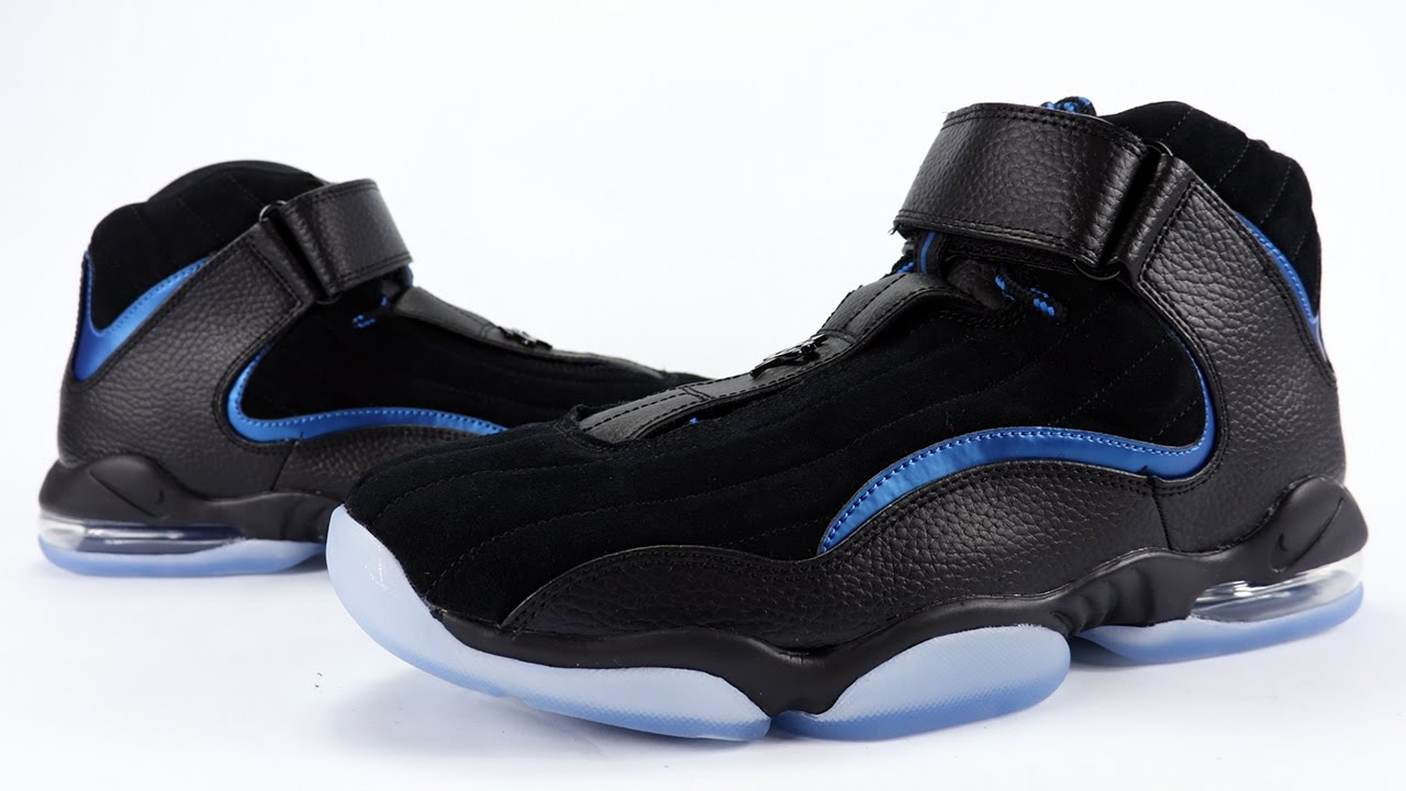3b73d81ce1bc Nike Air Penny 4 Black Royal Orlando Magic Away Retro Review + On ...