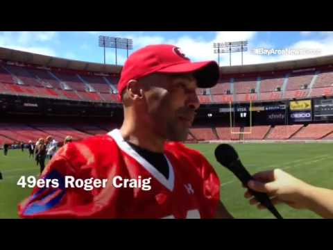 "Former  #49ers  running back Roger Craig after practice for the ""Legends of Candlestick "" football g"