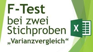 F-Test (Varianzvergleich) in Excel durchführen - Daten analysieren in Excel (18)