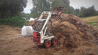 Usuwanie Obornika od Bydła z Obory ! Vlog#134 Test Mini-Ładowarki Bobcat M371 Skid Steer ! :D