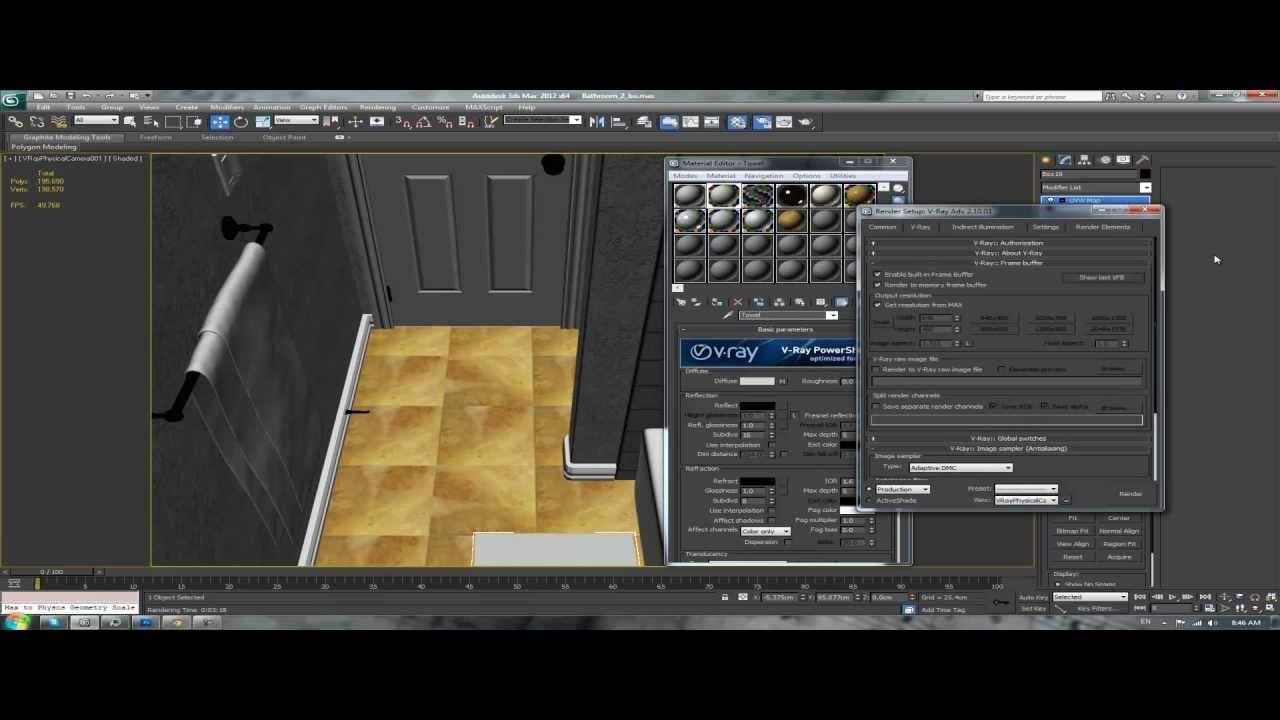 3ds max tutorial interior architectural design bathroom for Architecture 3ds max