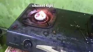 Pengganti gas LPG Kompor uap bensin dengan dua air pump
