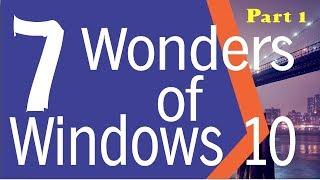 Seven tricks and tips of windows 10 / features of windows 10 / hidden tricks