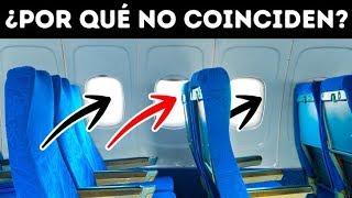 Por qué los asientos y las ventanas de los aviones no coinciden y 31 datos raros sobre los vuelos