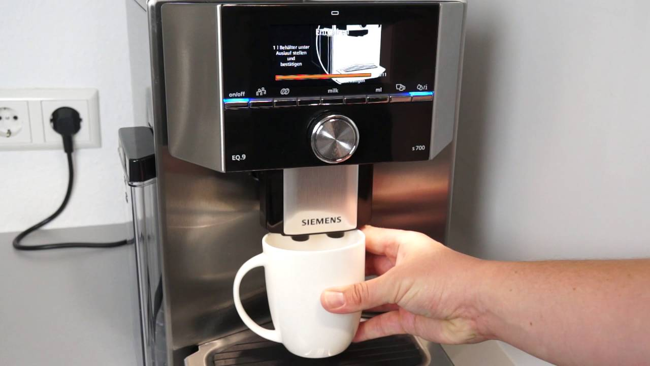 Siemens Eq 9 S700 Kaffeevollautomat Entkalken Youtube