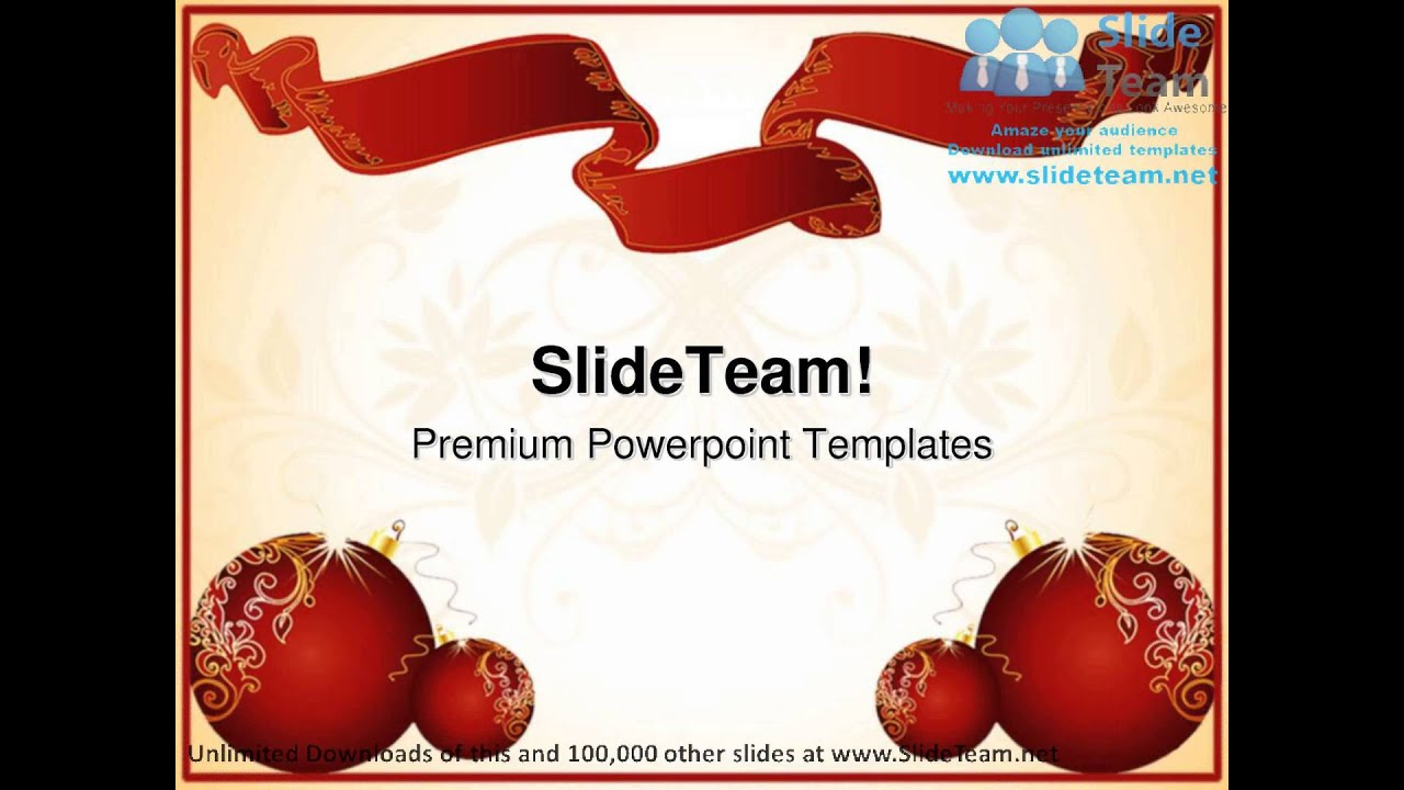 Christmas Frame Festival Powerpoint Templates Themes And Backgrounds