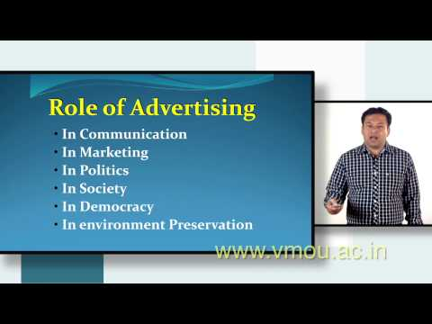 Advertising -- Role, Media Tool and Practices