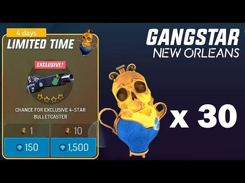 GANGSTAR NEW ORLEANS - 30 LIMITED JAR OPENING ( 4500 DIAMONDS, 100 Dollar)
