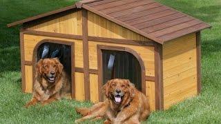 Домик для собаки из дерева