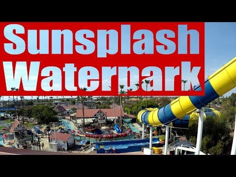 Having fun at Golfland Sunplash Waterpark Mesa Arizona!