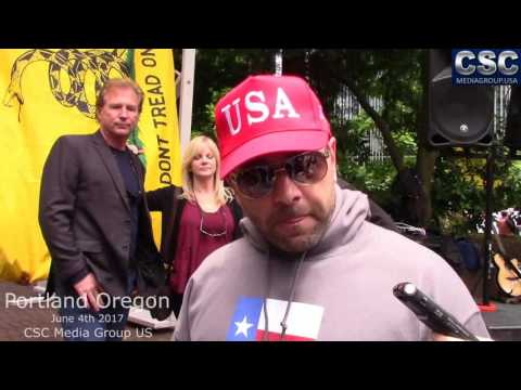 Interview With @BasedStickman_ Kyle Chapman At #FreeSpeechPDX Event In Portland Oregon