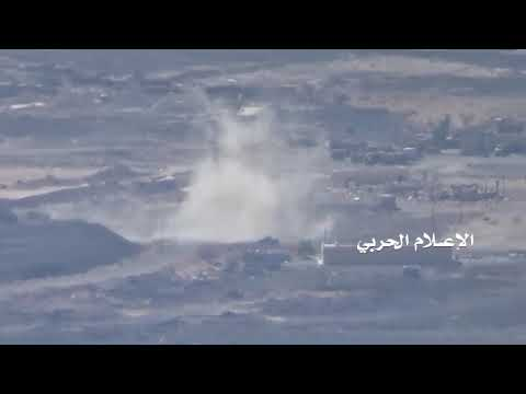 Targeting a group of Saudi fighters in Kawfel military camp with artillery shells in Yemen's Marib