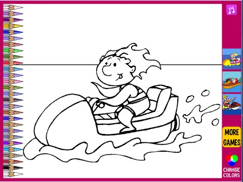 jet ski coloring pages for kids jet ski coloring pages
