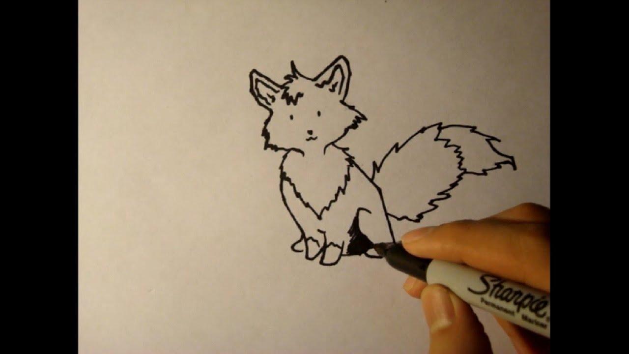 Line Drawing Cartoon Face : How to draw a cartoon foxstep by step easyfor beginnersheadlogo