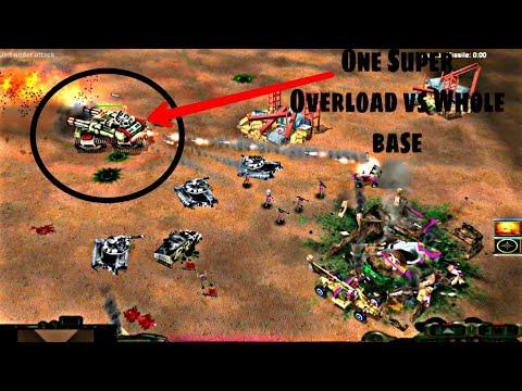 China's Giant Version Of Overload Destroying Whole Base Alone - China Tank Vs GLA Assault 1vs7