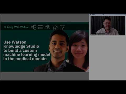 Use Watson Knowledge Studio to build a custom machine learning model in the medical domain