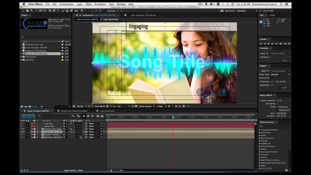 free after effects template audio visualizer tutorial youtube. Black Bedroom Furniture Sets. Home Design Ideas