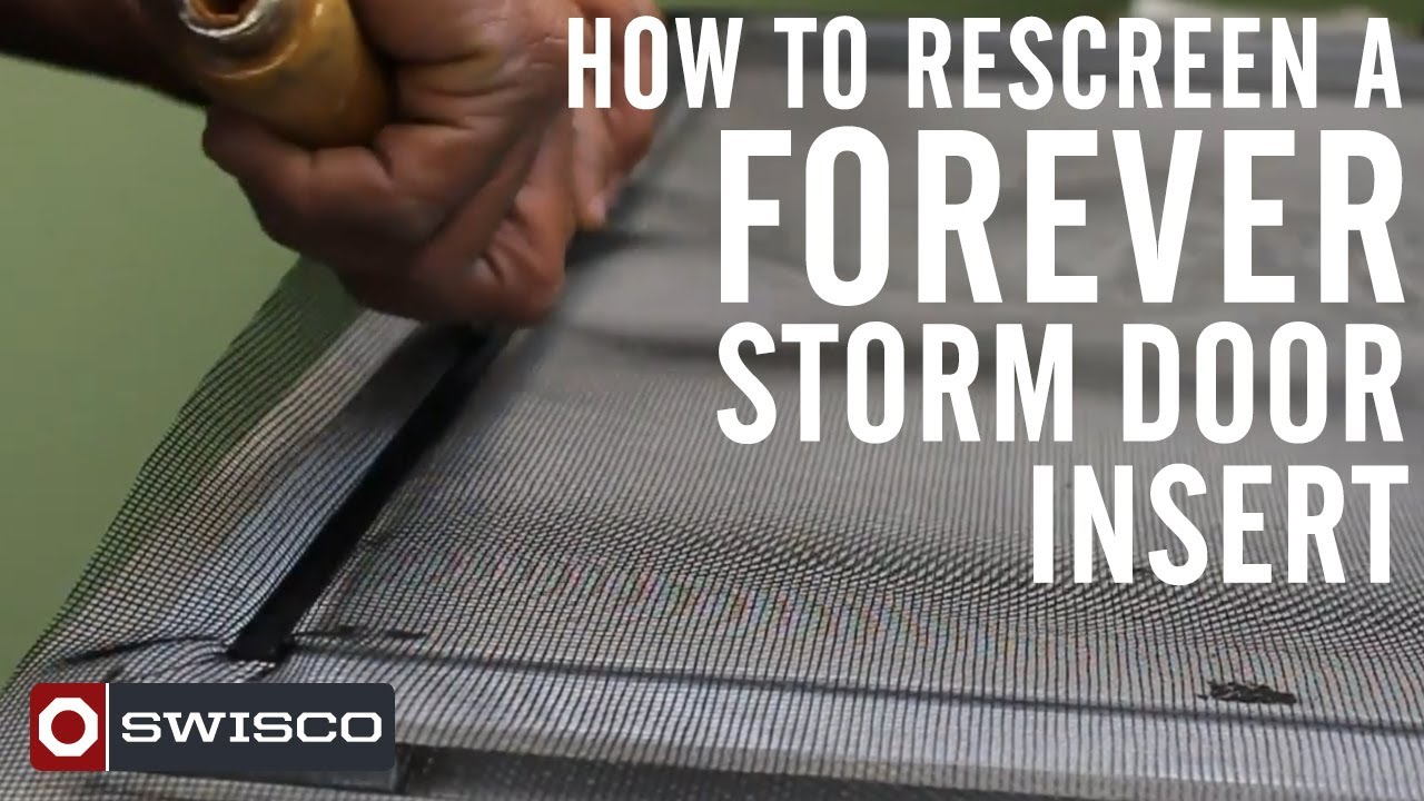 How to rescreen a forever storm door insert youtube eventelaan Gallery