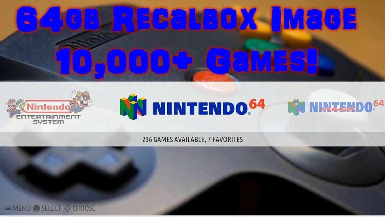 64gb RecalBox Pi 3 Image - 10,000+ Games