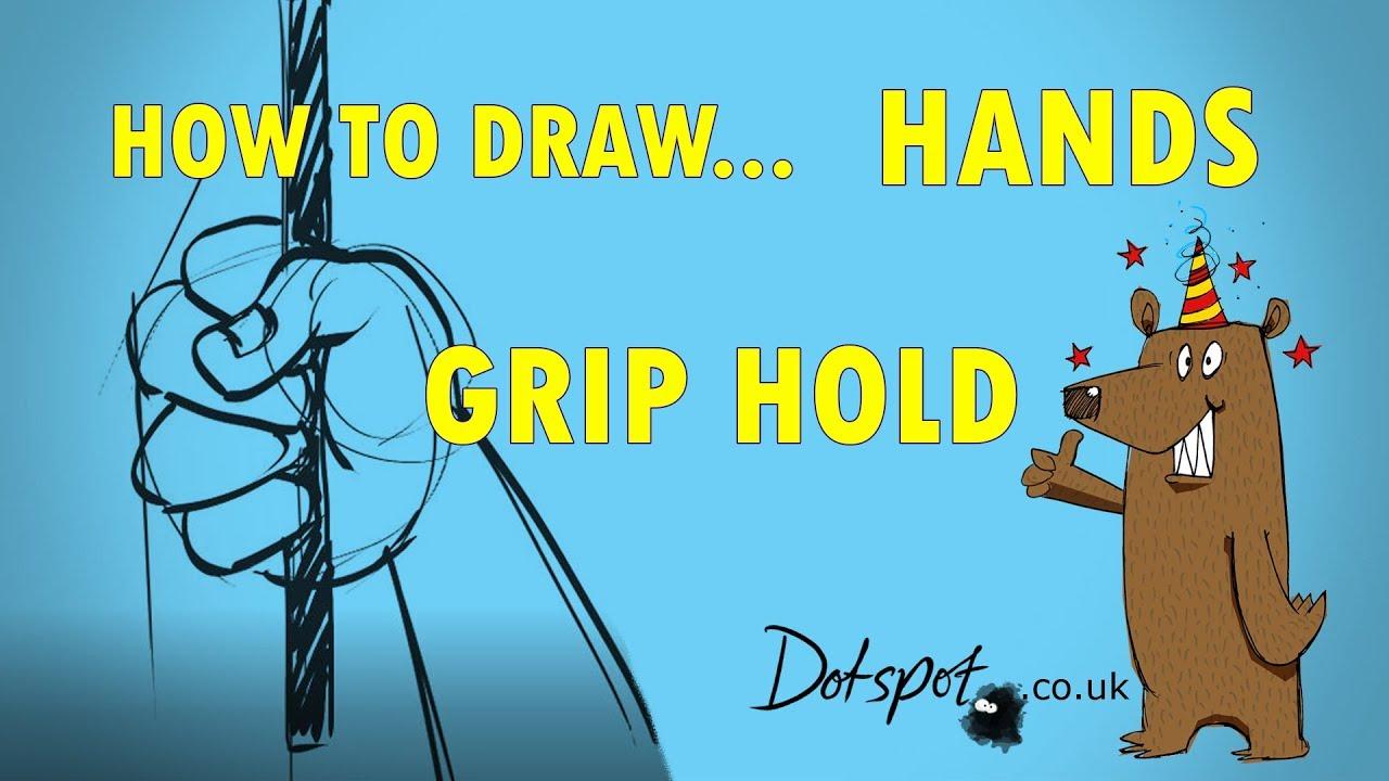 How To Draw Cartoon Hands Gripping Sword Dotspot Cartoons En