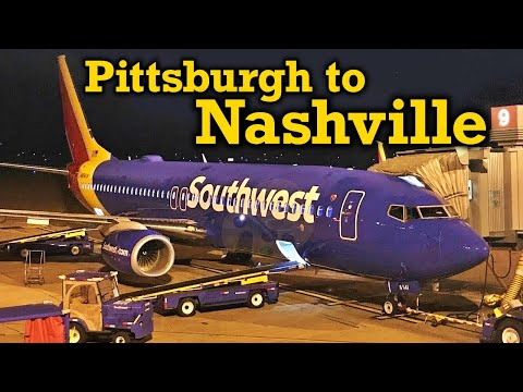 Full Flight: Southwest Airlines B737-800 Pittsburgh to Nashville (PIT-BNA)