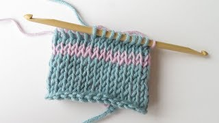 Today I show you how to crochet the Tunisian knit stitch in the round, and how to change colours, using a double ended crochet hook. For more stitch patterns ...