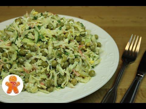 Видео Салат из капусты рецепты с чесноком фото