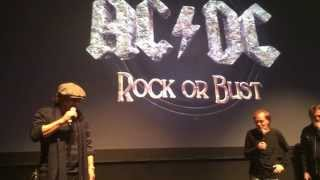 Angus Young & Brian Johnson of ACDC @ Webster Hall NYC 11/18/14