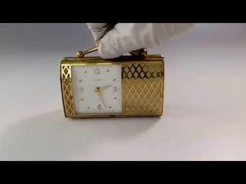 Swiss Musical Alarm Clock Wind Up Mechanical