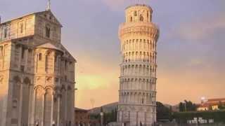 видео Пиза|Деревня Леонардо Да Винчи|Достопримечательности Пизы|Пизанская башня|Площадь Чудес в Пизе