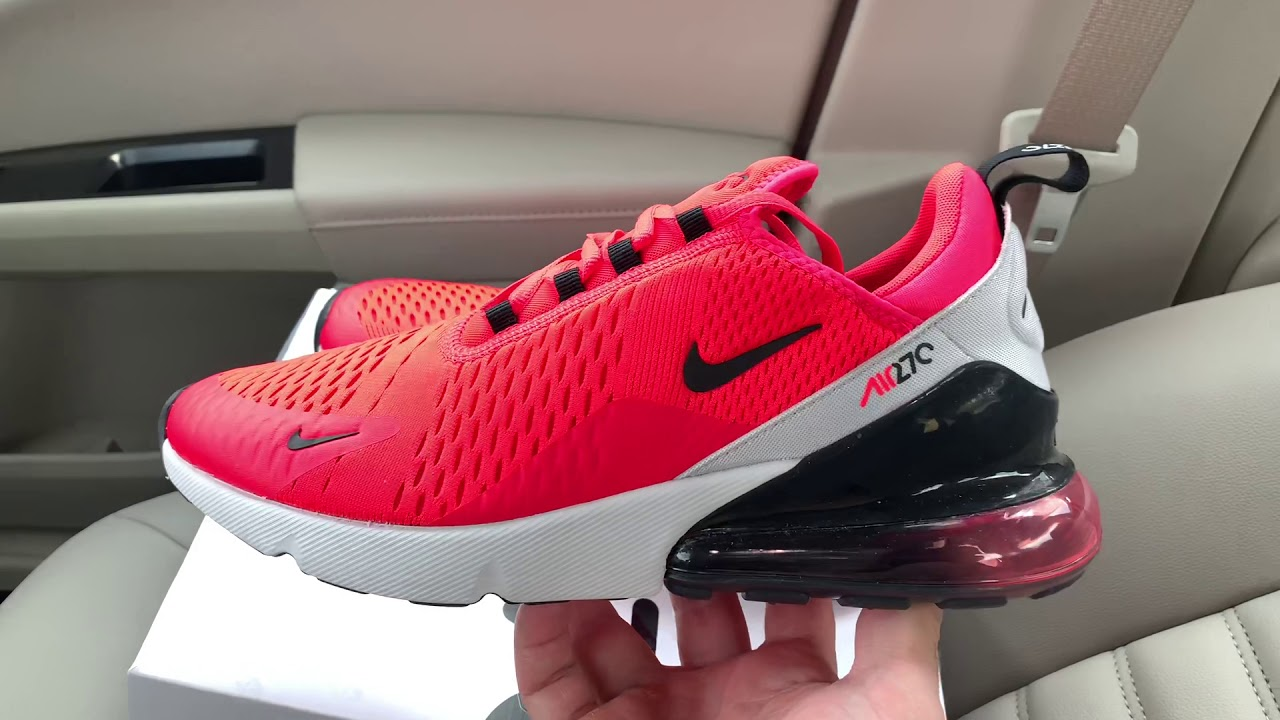 Nike Air Max 270 Red Orbit shoes - YouTube