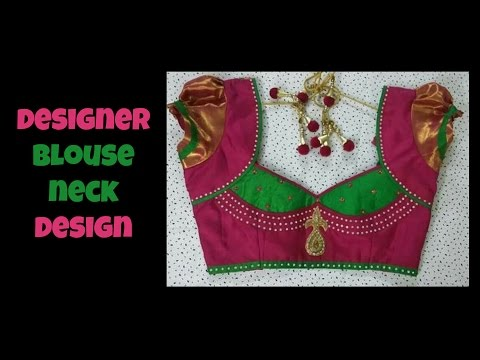 Designer Blouse Neck Design 2016