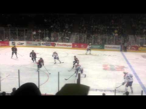 Big Hit in WHL at Spokane