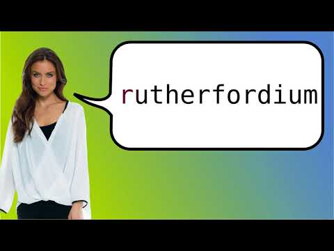 How to say 'rutherfordium' in French?