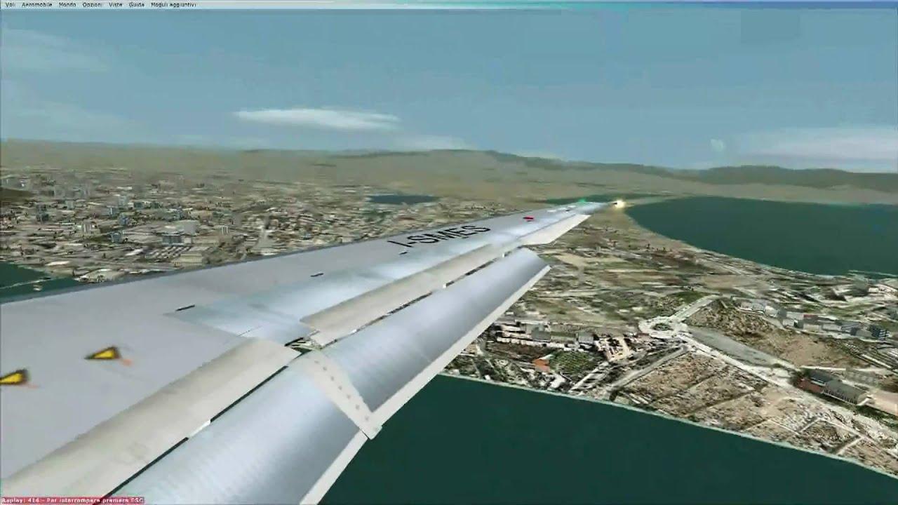 FSX - Atterraggio A Cagliari Aeroporto Di Elmas Con MD-82 ...