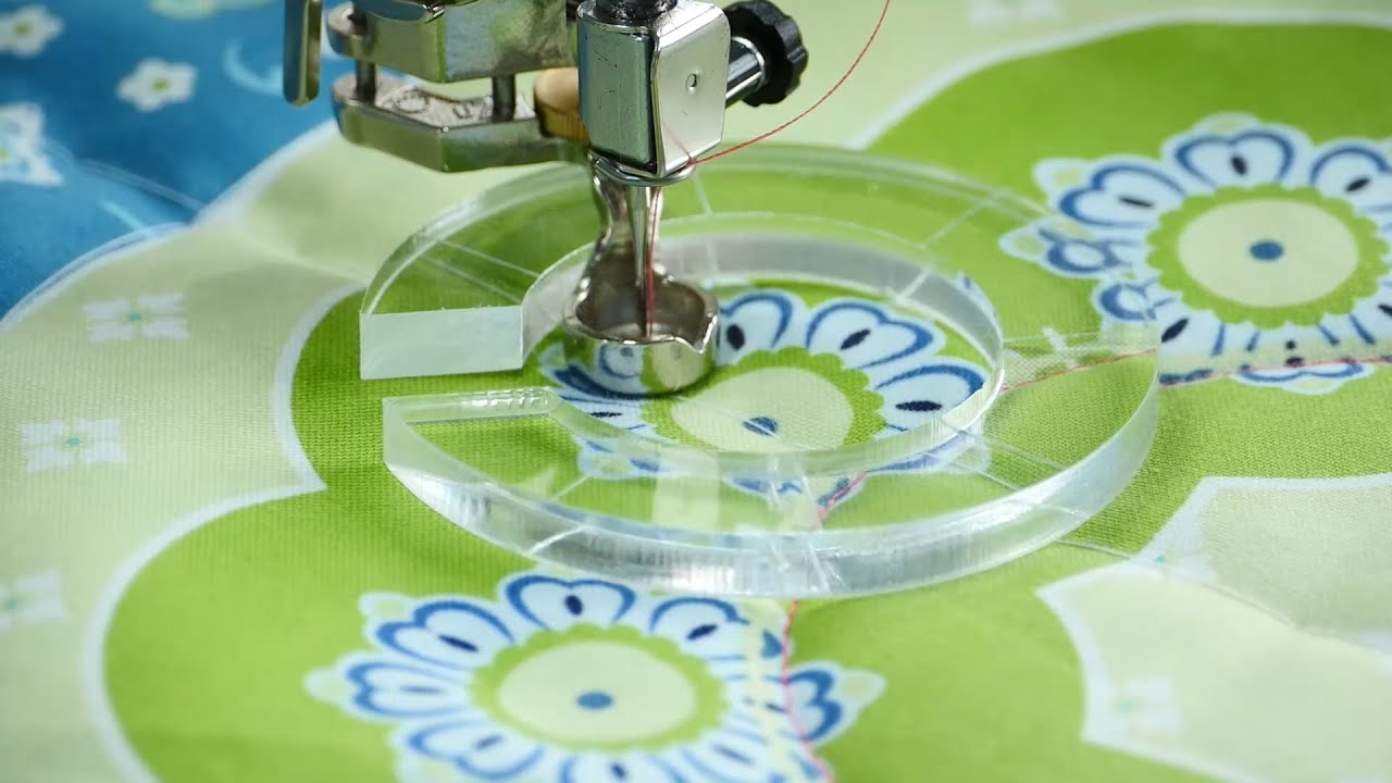 Tutorial: how to do ruler work with the BERNINA ruler foot no. 72 ... : circle ruler for quilting - Adamdwight.com
