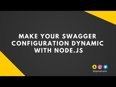 🔧 Make your Swagger configuration files dynamic using Node js | The