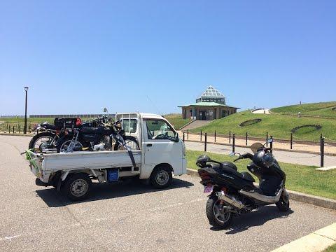 ホワイトベースのバイク買い取りと納車:石川・愛知1300km軽トラの旅
