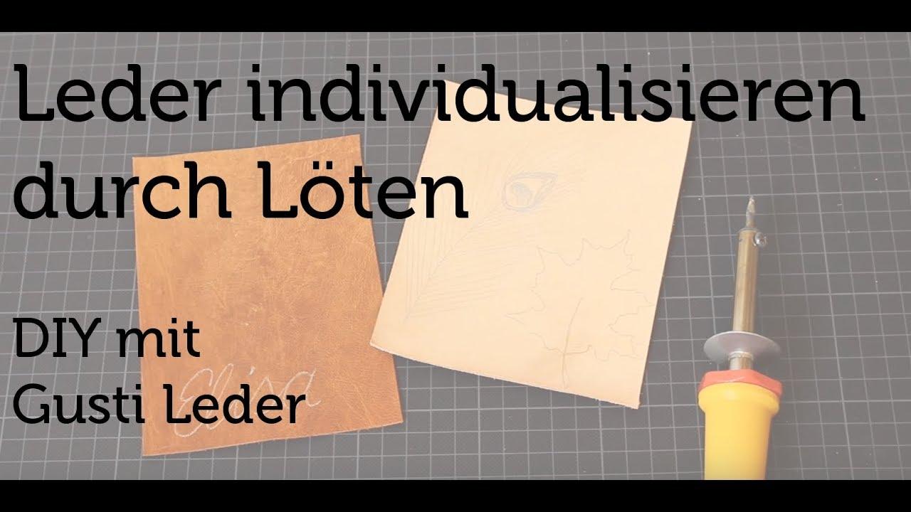 Tutorial  Leder individualisieren durch Löten  Arbeiten  -> Ecksofa Leder Mit Hocker