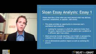 mit sloan essay analysis Review the application instructions for the mit sloan mba program and position yourself for success in the application process essays, and transcripts.