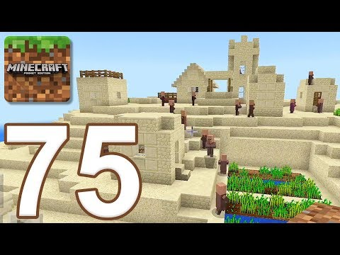 Minecraft: Pocket Edition - Gameplay Walkthrough Part 75 - Desert Temple and Village (iOS, Android)