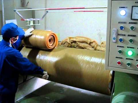 Milling to soften raw rubber and mix dry ingredients into the compound