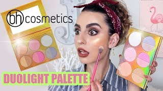 BH Cosmetics Duolight Highlighter Palette! Demo & Swatches!