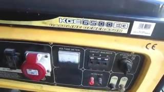 видео Бензиновый генератор ТСС SGG 6000 EH3 (новая модель)