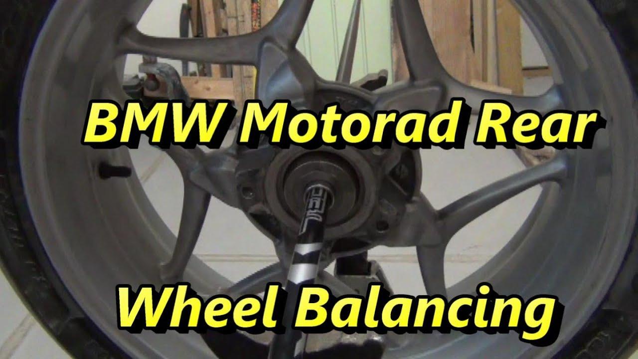 diy bmw motorrad rear tire balance - youtube
