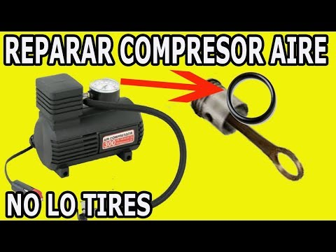 Como Reparar Compresor De Aire Para Inflar Neumaticos Llantas Cauchos  How To Repair Air Compressor